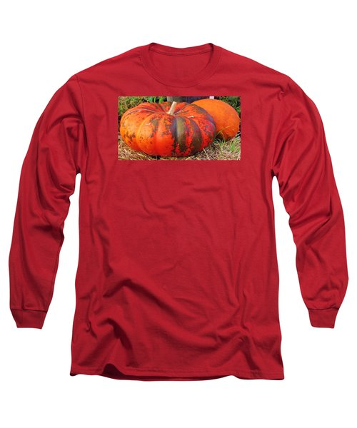 Long Sleeve T-Shirt featuring the photograph Pumpkins by Cynthia Guinn