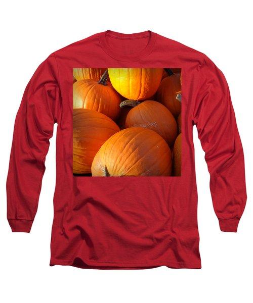 Long Sleeve T-Shirt featuring the photograph Pumpkins by Joseph Skompski