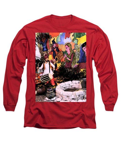 Long Sleeve T-Shirt featuring the digital art Punjabi by Bliss Of Art