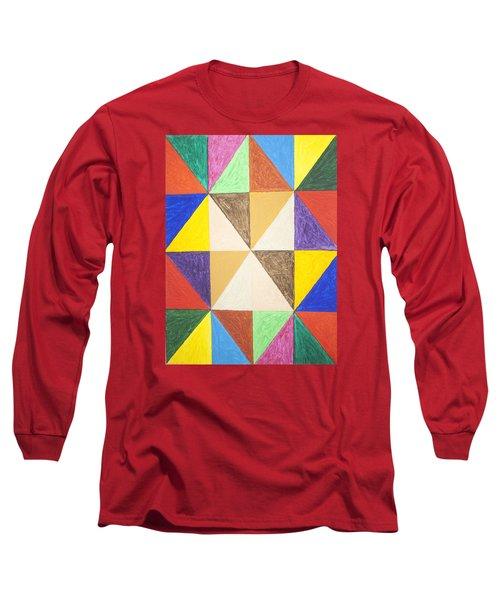 Pyramids 2 Long Sleeve T-Shirt by Stormm Bradshaw