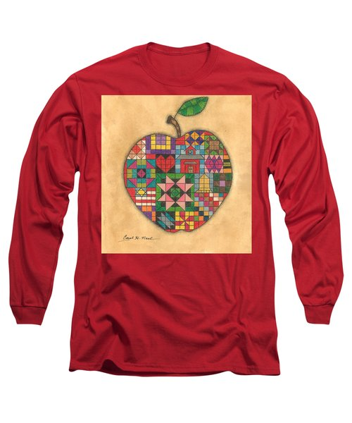 Quilted Apple Long Sleeve T-Shirt
