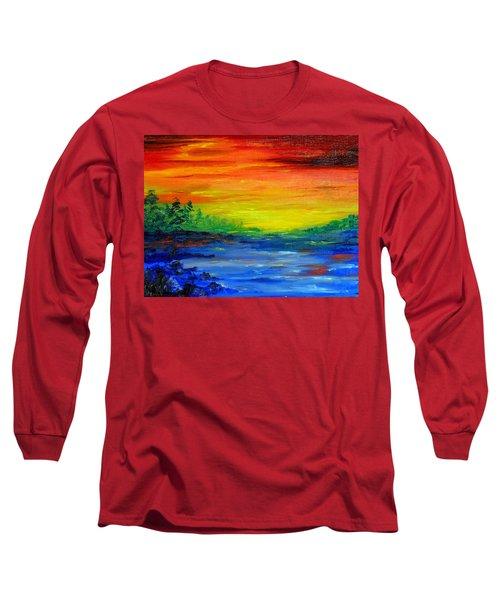 Rainbow Back Waters Long Sleeve T-Shirt