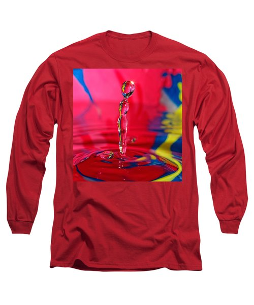 Long Sleeve T-Shirt featuring the photograph Rainbow Drop by Peter Lakomy