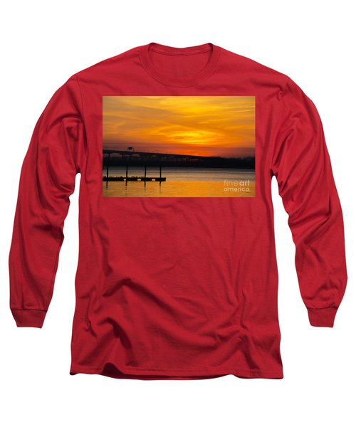 Orange Blaze Long Sleeve T-Shirt by Dale Powell