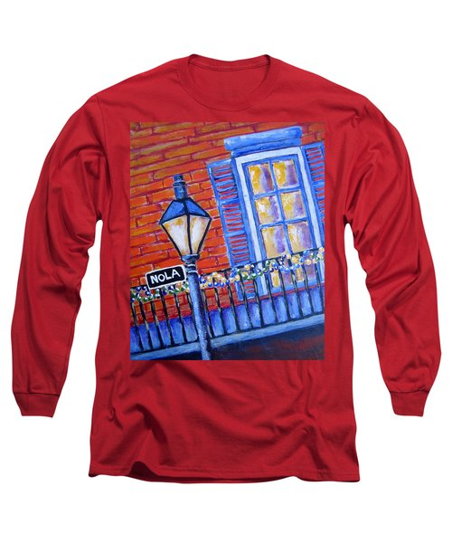 Long Sleeve T-Shirt featuring the painting Ready For Mardi Gras by Suzanne Theis