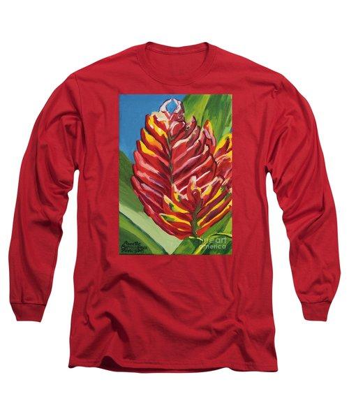 Red Bromeliad Long Sleeve T-Shirt
