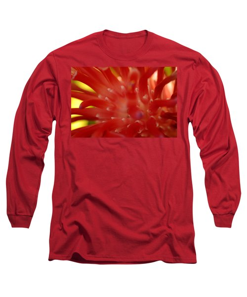 Long Sleeve T-Shirt featuring the photograph Red Bromeliad by Greg Allore