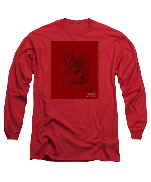 Red Cat Collection. Special... Long Sleeve T-Shirt by Oksana Semenchenko