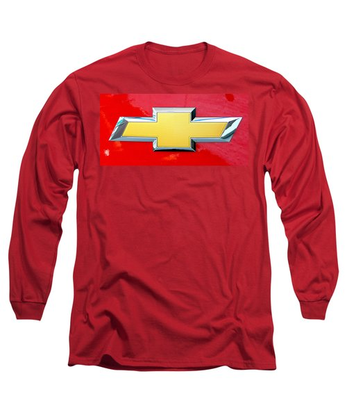 Red Chevy Bowtie Long Sleeve T-Shirt