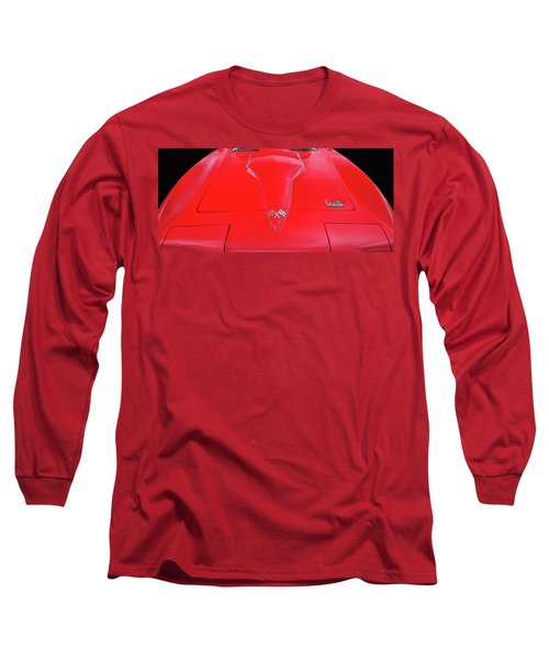 Long Sleeve T-Shirt featuring the photograph Red Corvette by Dave Mills