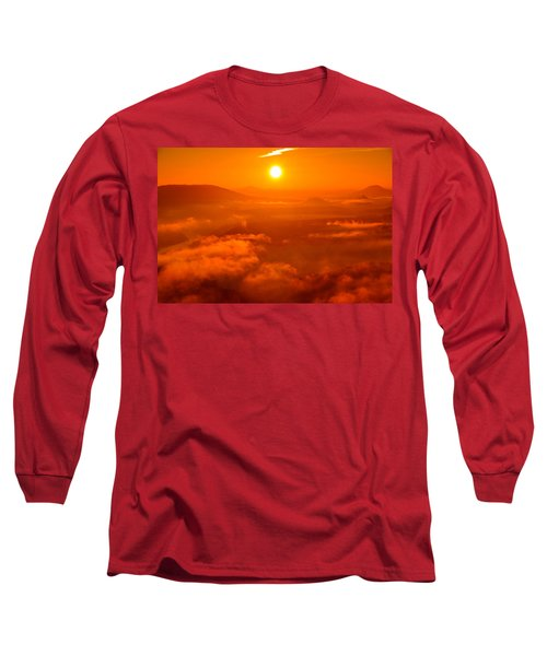 Red Dawn On The Lilienstein Long Sleeve T-Shirt