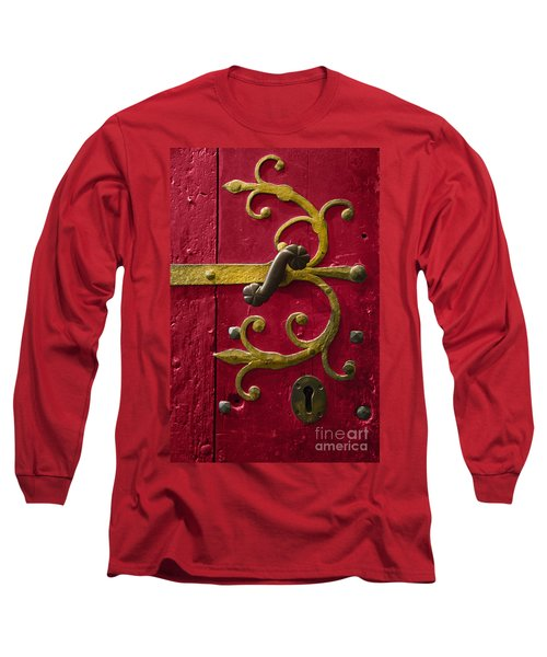 Red Entrance Long Sleeve T-Shirt