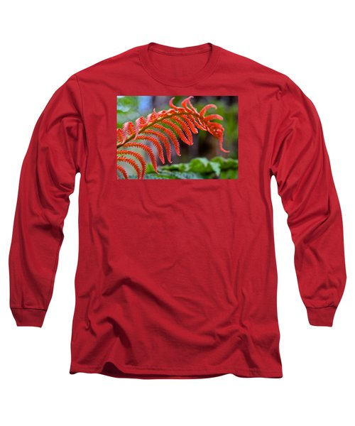 Autumn Fern In Hawaii Long Sleeve T-Shirt by Venetia Featherstone-Witty