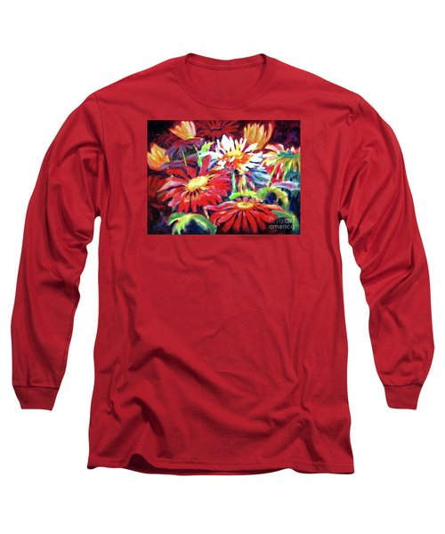 Red Floral Mishmash Long Sleeve T-Shirt