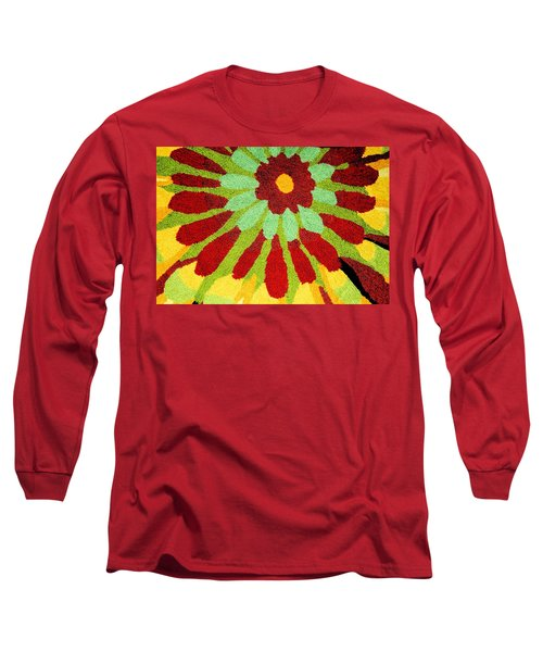 Long Sleeve T-Shirt featuring the photograph Red Flower Rug by Janette Boyd
