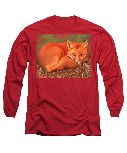 Red Fox Long Sleeve T-Shirt by Dan Miller