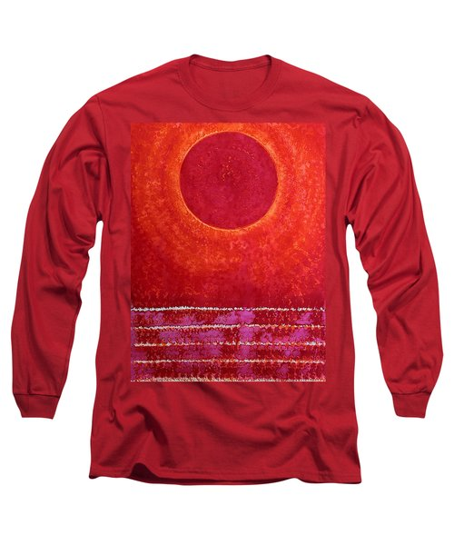 Red Kachina Original Painting Long Sleeve T-Shirt by Sol Luckman