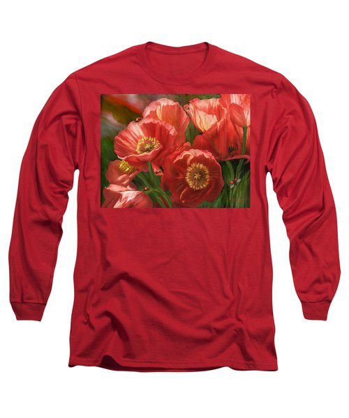 Red Ladies Of Summer Long Sleeve T-Shirt