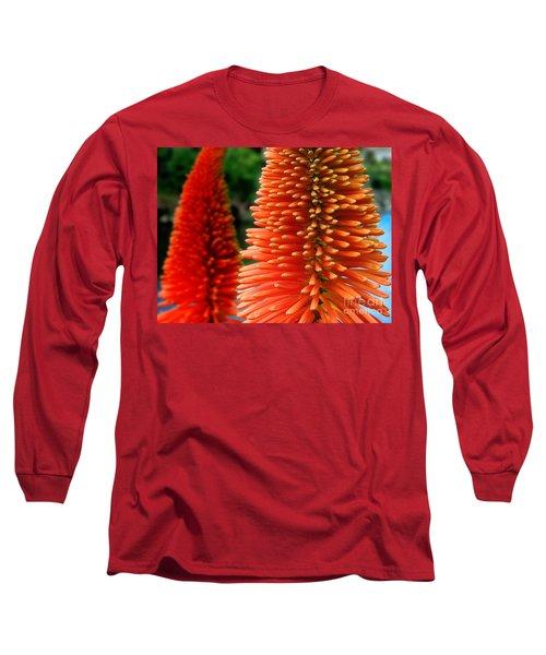Red-orange Flower Of Eremurus Ruiter-hybride Long Sleeve T-Shirt