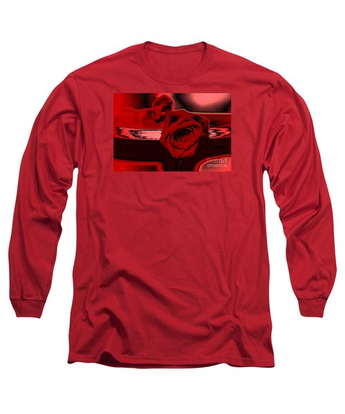 Red Passion. Rose Long Sleeve T-Shirt by Oksana Semenchenko