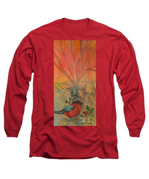 Red Peace Bird Long Sleeve T-Shirt by Robin Maria Pedrero
