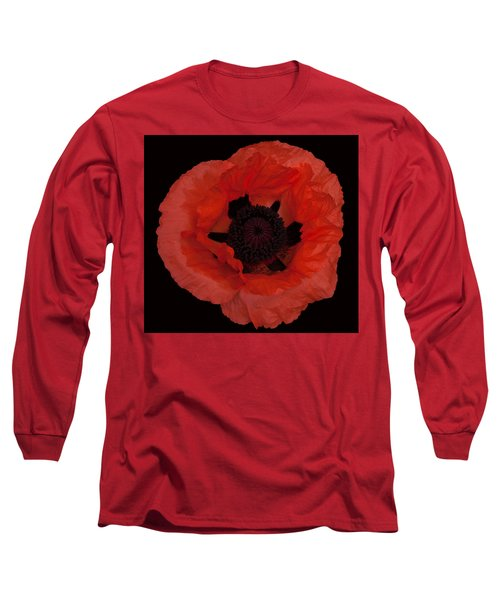 Red Poppy Long Sleeve T-Shirt by Susan Rovira