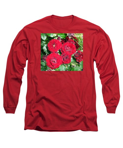 Long Sleeve T-Shirt featuring the photograph Red Roses by Vesna Martinjak
