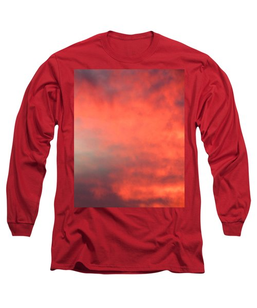 Red Sky At Night Long Sleeve T-Shirt by Laurel Powell