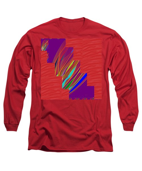 Long Sleeve T-Shirt featuring the photograph Red Sparkle And Blue Lightening Across by Navin Joshi