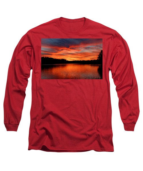 Red Sunset Reflections Long Sleeve T-Shirt