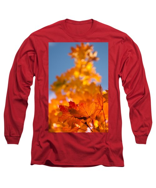 Red Tipped Gold Long Sleeve T-Shirt