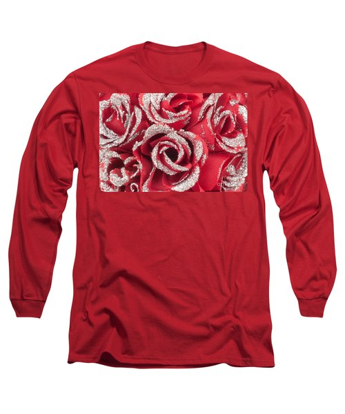 Long Sleeve T-Shirt featuring the photograph Red Valentines Day Roses by Gunter Nezhoda