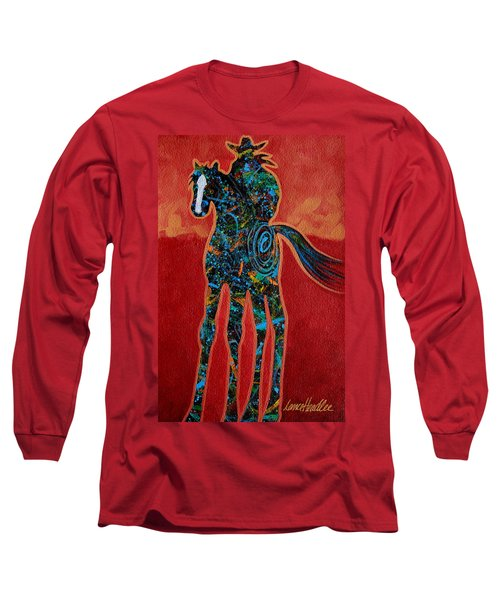 Red With Rope Long Sleeve T-Shirt