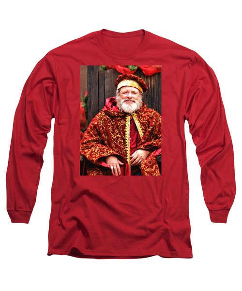Renaissance St Nicholas Long Sleeve T-Shirt by Nadalyn Larsen
