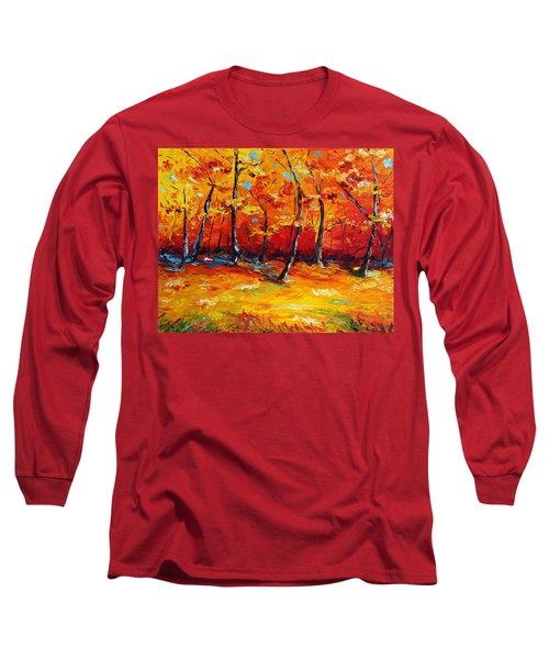 Long Sleeve T-Shirt featuring the painting Resting In Your Shadow by Meaghan Troup
