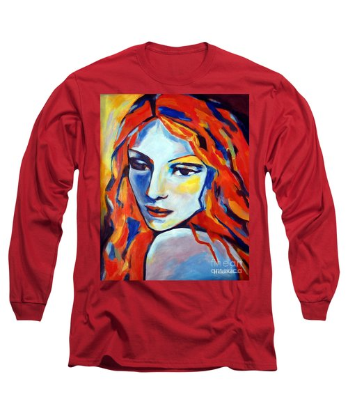 Long Sleeve T-Shirt featuring the painting Reverie by Helena Wierzbicki