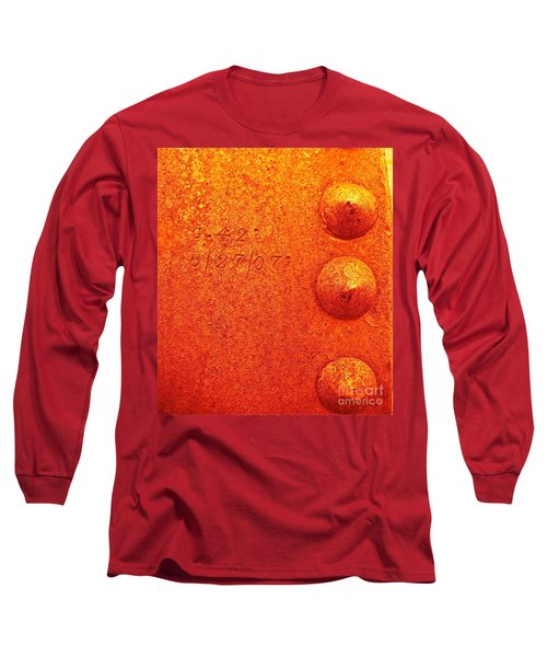 Rivets Long Sleeve T-Shirt by Linda Bianic