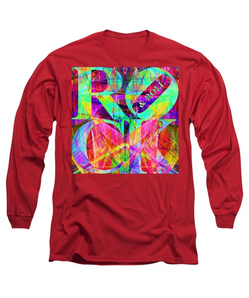 Rock And Roll 20130708 Fractal Long Sleeve T-Shirt