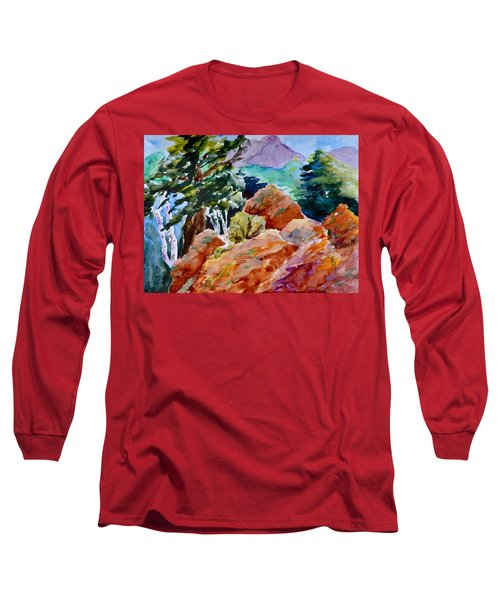 Rocks Near Red Feather Long Sleeve T-Shirt