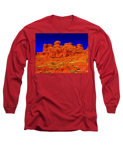 Rocky Outcrop Long Sleeve T-Shirt by Mark Blauhoefer