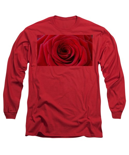 Long Sleeve T-Shirt featuring the photograph Rose Red by Shawn Marlow