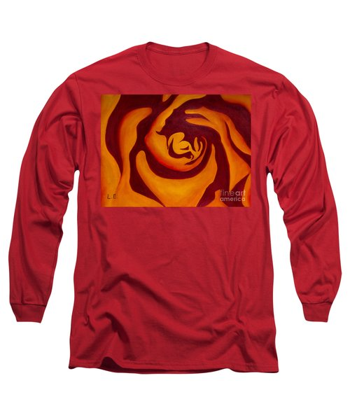 Rose Whirl 2 Long Sleeve T-Shirt by Lana Enderle