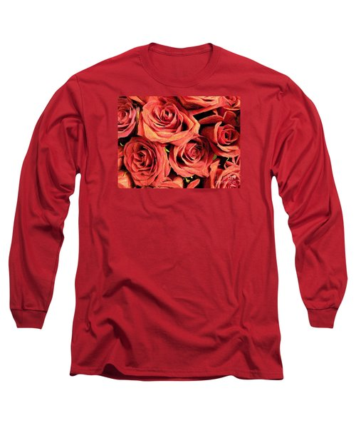 Roses For Your Wall  Long Sleeve T-Shirt by Joseph Baril