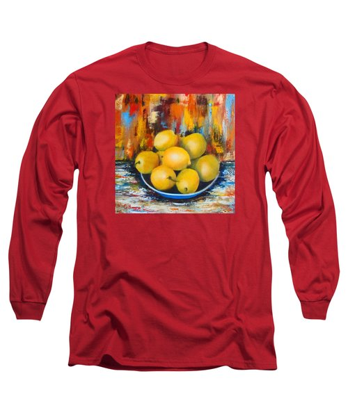 Long Sleeve T-Shirt featuring the painting Rosie's Harvest by Roseann Gilmore