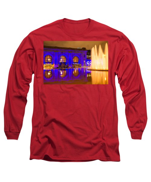 Royal Blue Reflections Union Station Long Sleeve T-Shirt