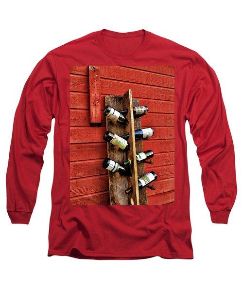 Rustic Wine Rack Long Sleeve T-Shirt