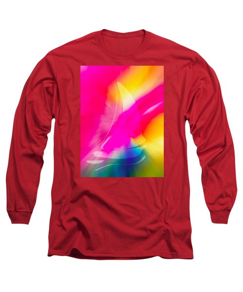 Long Sleeve T-Shirt featuring the digital art Sailing The Cosmos by Frank Bright