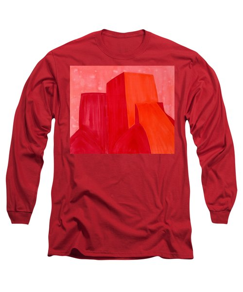 Saint Francis Church Original Painting Long Sleeve T-Shirt