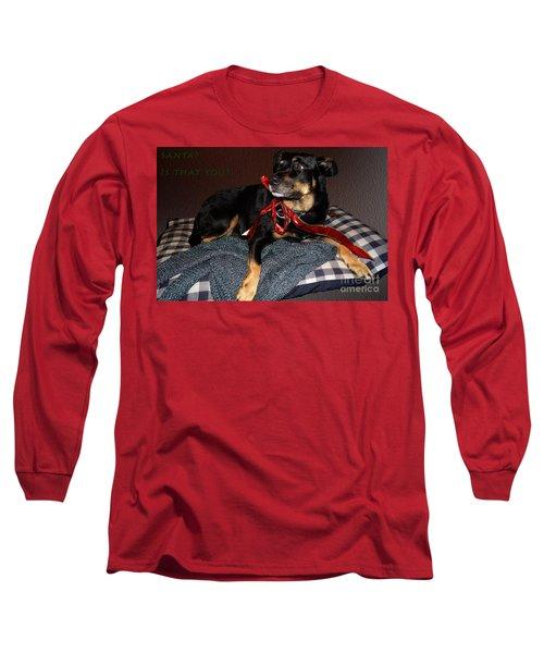 Long Sleeve T-Shirt featuring the photograph Santa? by Cassandra Buckley