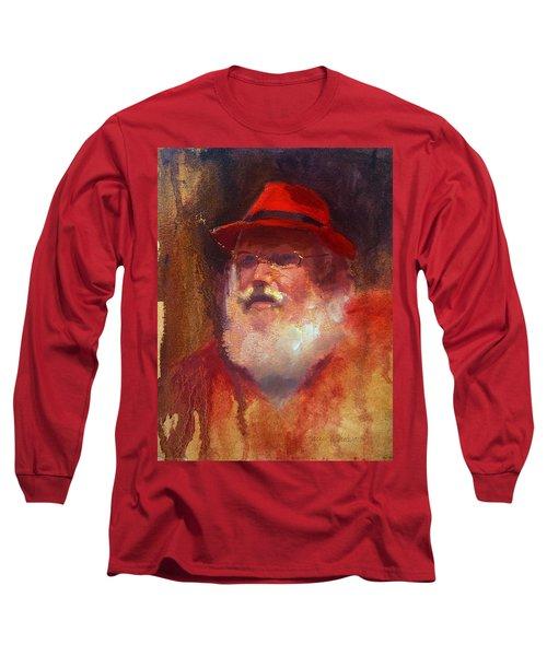Santa Long Sleeve T-Shirt by Karen Whitworth